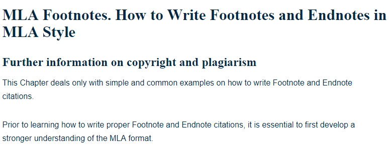 How to write footnotes and endnotes in mla style a research guide ccuart Image collections