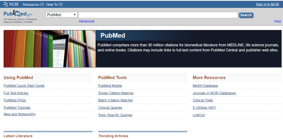 PubMed search engine