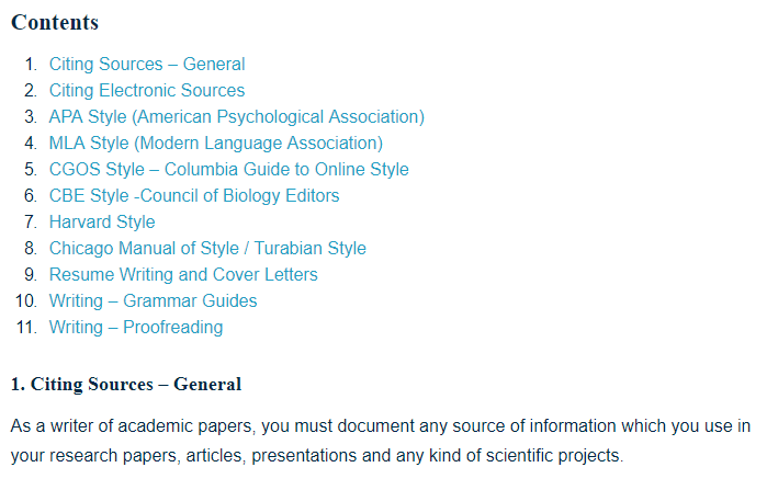 Research Writing And Style Guides