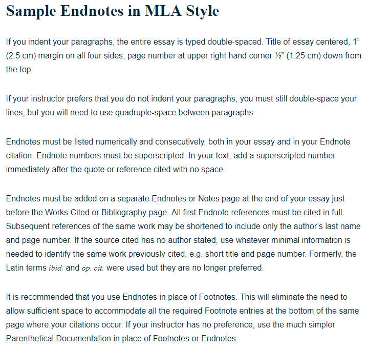 mla citation example in essay