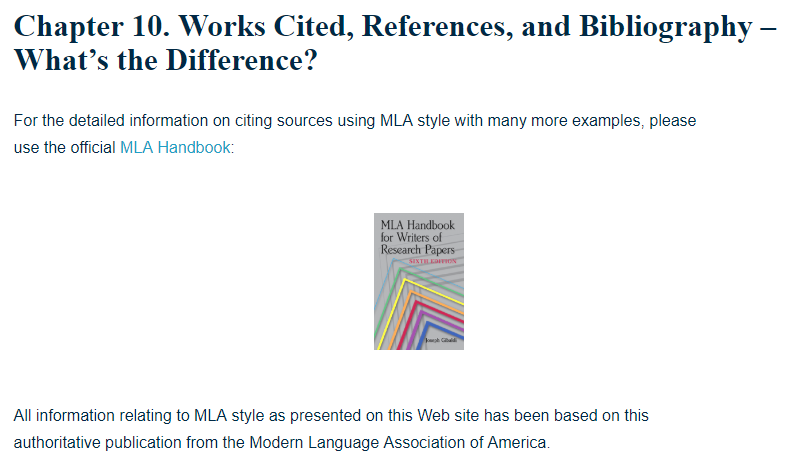 works cited references and bibliography what s the difference