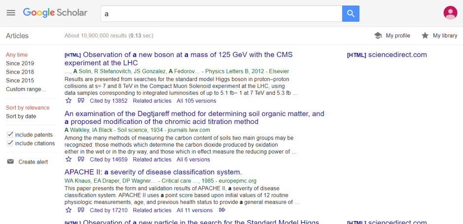google scholar search engine