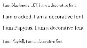 popular decorative fonts